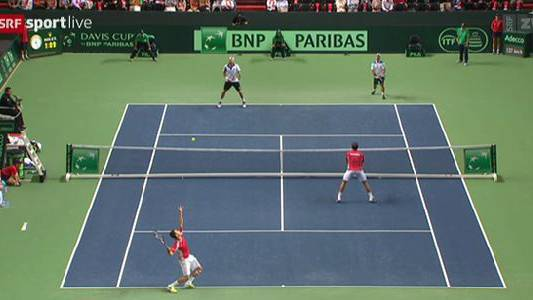«Wawrinelli» verlieren Davis-Cup Doppel-Halbfinal