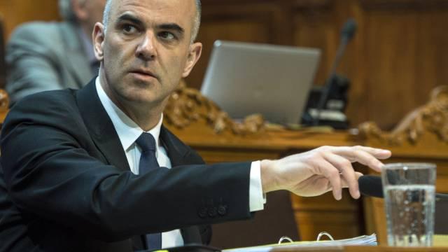 Kulturminister Alain Berset am Donnerstag im Ständerat