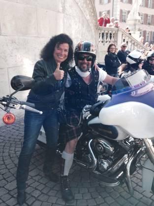 Daniela Fusco am Harley-Treffen