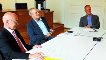 Die drei Oberrichter Franz Burki, Roland Walter und Klaus Lämmli treten in den Ruhestand.