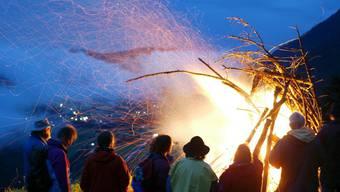 Am Mittwoch lodern im Aargau nicht nur unzählige Höhenfeuer