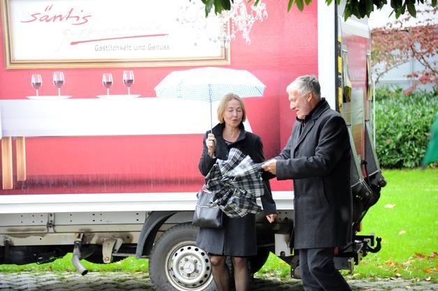 Schim auf! KR-Präsidentin Susanne Schaffner und Regierungsrat Peter Gomm