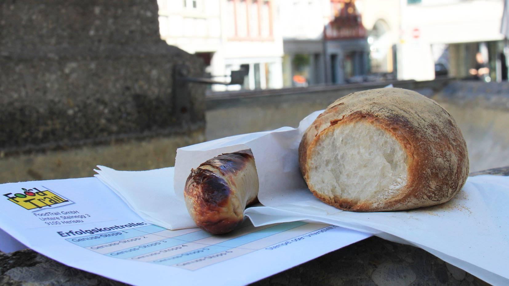 Keine Überraschung: Eine der sechs Spezialitäten des Food Trails ist die St.Galler Bratwurst