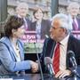 Freund, aber auch Feind: Die Berner Ständeratskandidaten Regula Rytz (Grüne) und Hans Stöckli (SP).
