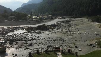 Erneuter Murgang nach Dauerregen in Bondo (1.9.2017)
