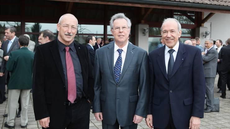 Rainer Huber (links), Kurt Wernli und Ernst Hasler.