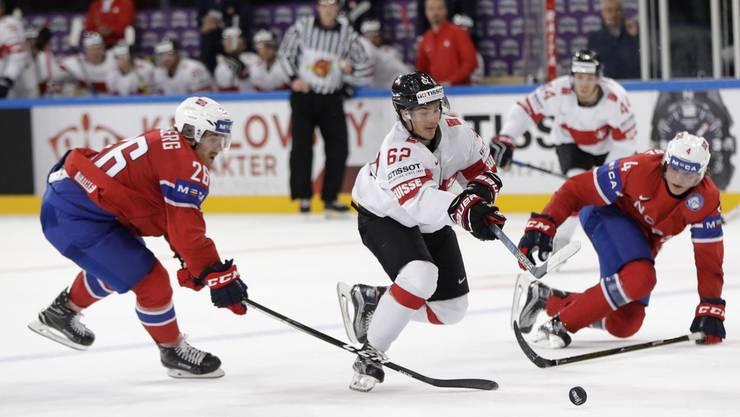 Die Schweizer spielten in Paris das zweite Spiel der Eishockey-WM.