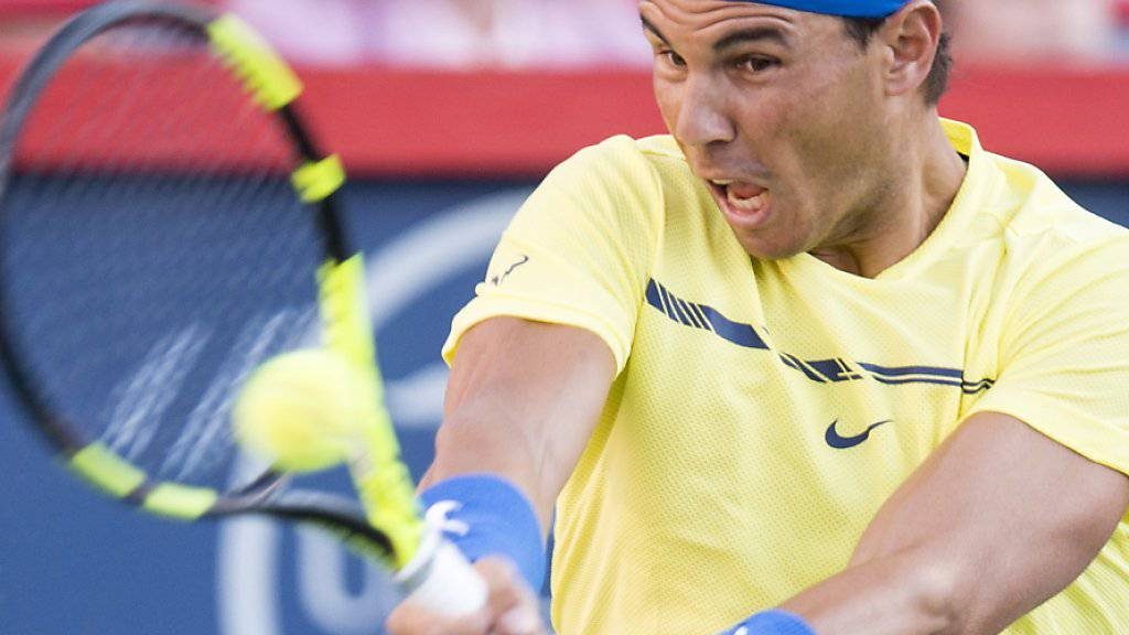 Sehr überzeugender Auftritt: Rafael Nadal erreichte in Montreal souverän die Achtelfinals