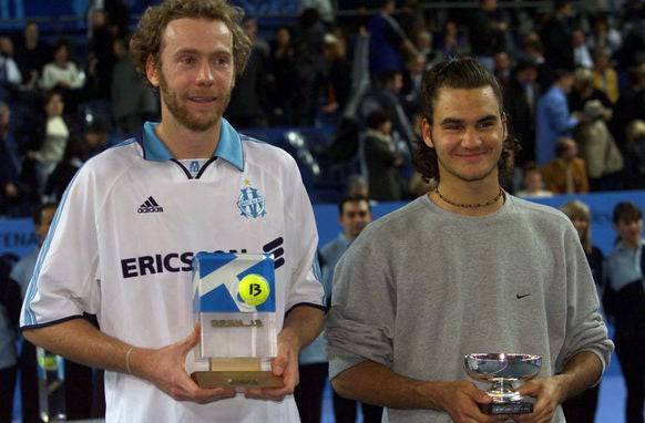 Federer mit Rosset in Marseille.