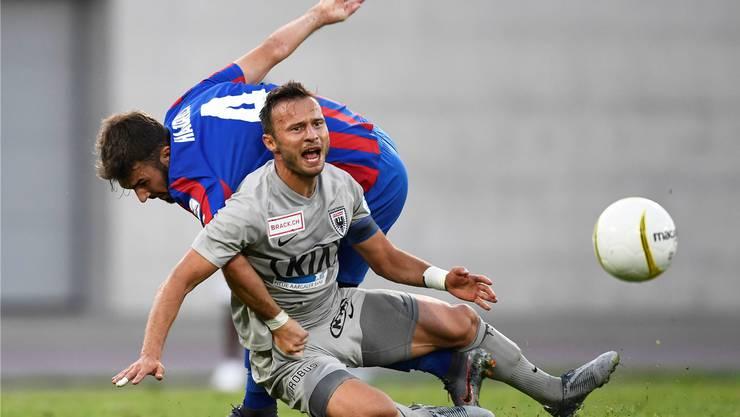 Einer von fünf Ü30-Spielern, die für den FC Aarau in Chiasso auf dem Platz standen: Aber auch Captain Elsad Zverotic konnte das Unheil nicht abwehren.