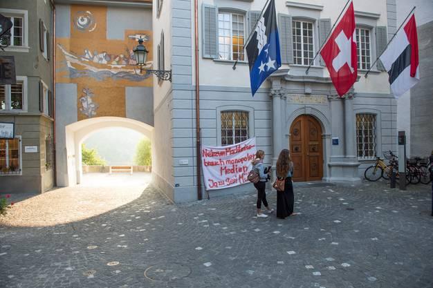 Das Badener Stadthaus am Montag.