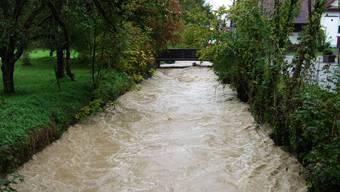 Hochwasser in Jonen im Oktober 2012