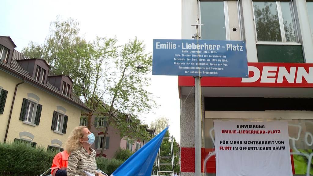 Emilie-Lieberherr-Platz in Zürich eingeweiht