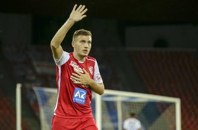 Stojilkovic im Dress des FC Sion, der ihn für die Leihe nach Aarau freigestellt hat