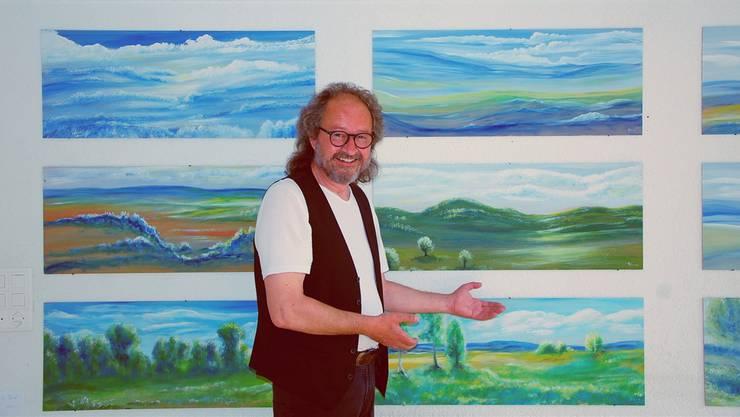 «Bärnu» Anderegg stellt im «Alten» Wohnheim Blumenhaus 160 Werke aus.