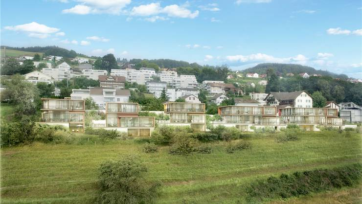 Umstritten: Die fünf Häuser der Überbauung «La Vela» unmittelbar am Rand des Siedlungsgebietes.