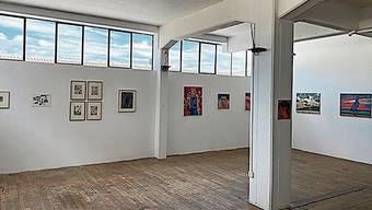 Arbeiten von Lionel Keller und Cosimo Gritsch in der neu eröffneten Beletage im Aarauer Kiff.