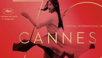 Das Plakat des 70. Cannes Film Festival zeigt die wild auf einem Dach tanzende Claudia Cardinale. (Handout)