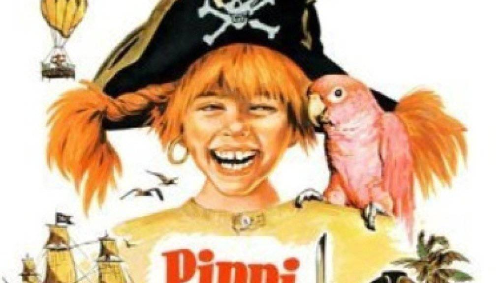 Pippi Langstrumpfs Papagei Rosalinde (r) sucht ein gutes Plätzchen als Alterssitz. (Filmplakat 1970, Ausschnitt)