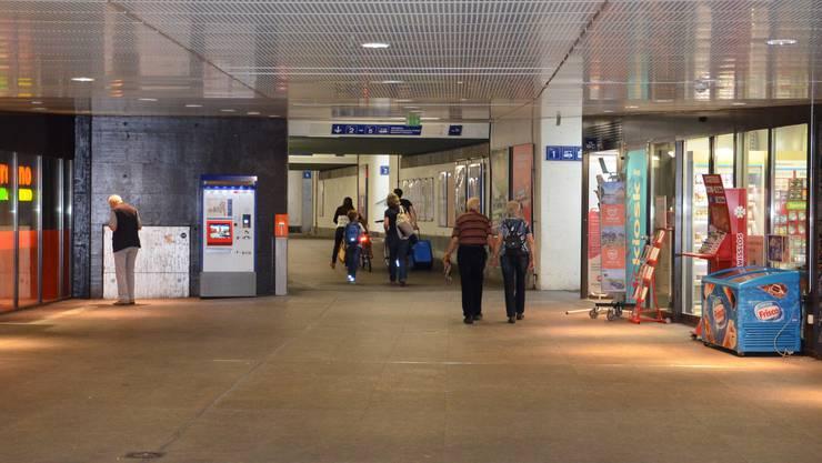 Die SBB-Unterführung vom Brugger Neumarkt zum Campusplatz ist ein schwieriges Terrain für Velofahrer.