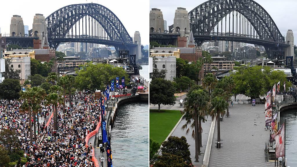 Silvester-Feuerwerk in Sydney - Saftige Strafen für Schaulustige
