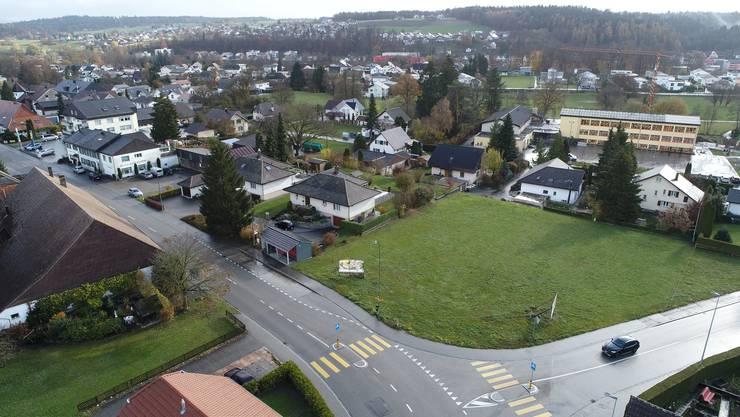 Ecke Murgenthalerstrasse/Dorfstrasse: Eine der letzten in dieser Grösse bebaubaren Flächen in der Gemeinde Fulenbach.