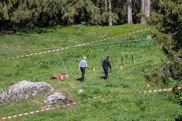 Abgesperrt: Die Unfallstelle wird derzeit von der Kantonspolizei untersucht.