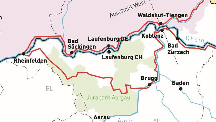 Insgesamt ist die Rundstrecke (rot) 208 Kilometer lang.