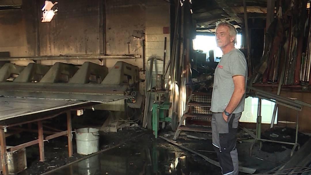 Grossbrand in Leuchtreklame-Fabrik