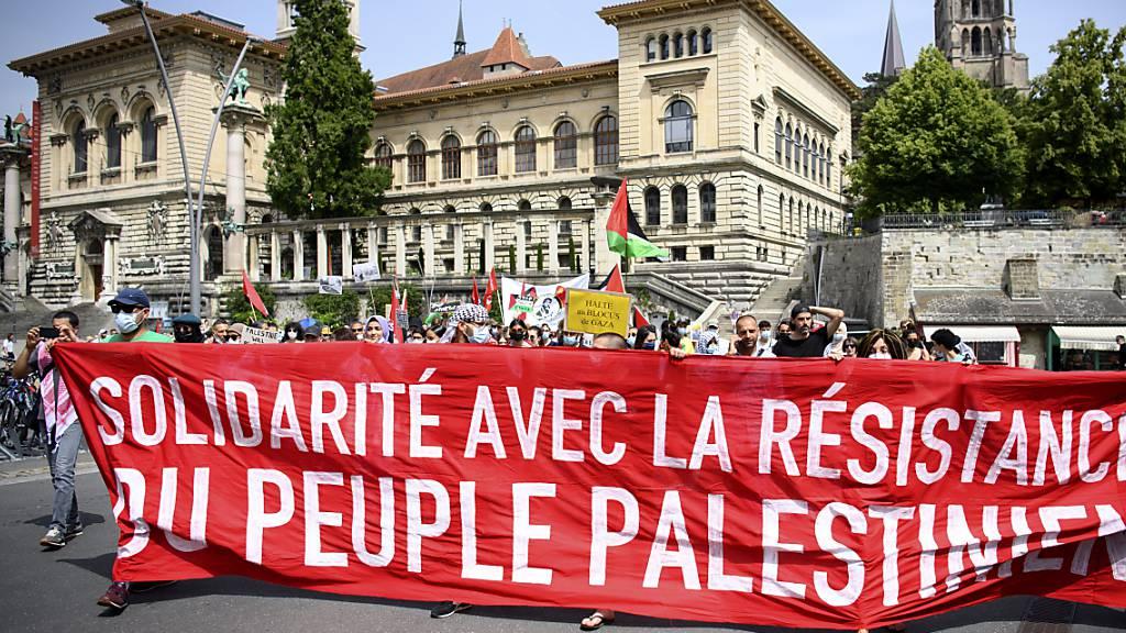 200 Personen demonstrieren in Lausanne für Palästina