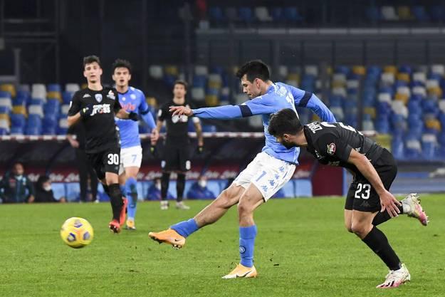 Der Mexikaner Hirving Lozano erzielte den Treffer zum 2:1 für seine Neapolitaner.