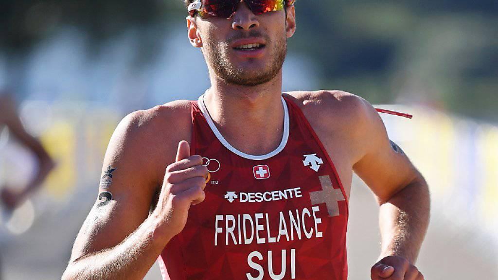Der Mixed-Team-EM-Silbermedaillengewinner Sylvain Fridelance ist einer von zwei teilnehmenden Schweizer Triathleten am Grand Final der WM-Serie in Australien