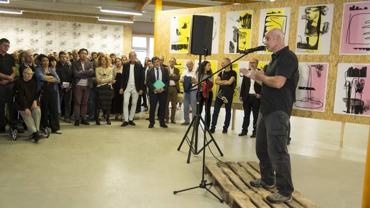 Eröffnung der Grafik-Triennale 2018 in Grenchen