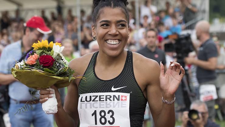 Mujinga Kambundji stellte ihre beneidenswerte Form zuletzt am Montag in Luzern unter Beweis