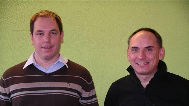 Der neue Zeiher Vizeammann Thomas Dinkel (links) und der neugewählte Gemeinderat Daniel Banholzer. – Foto: gk