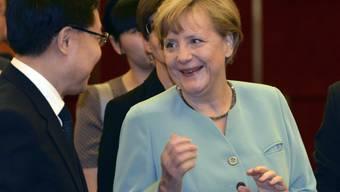Die deutsche Kanzlerin Angela Merkel während ihrem China-Besuch