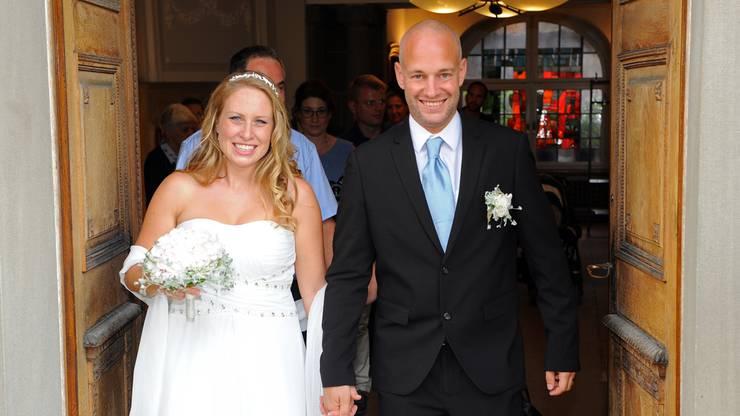Chantal (29) und Ramin Mattli (35) aus Brittnau feiern am 8.8.2018 die zivile und am 18.8.2018 ihre kirchliche Trauung. Das Paar, das sich seit zwölf Jahren kennt, hat dieses Datum ausgesucht, weil es in der Acht nicht nur eine Zahl, sondern auch das Unendlichkeitszeichen sieht.