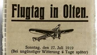 Der erste Flugtag in Olten lockte Tausende aufs freie Feld.