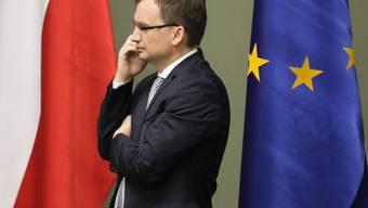 Post aus Brüssel für den polnischen Justizminister Zbigniew Ziobro: Die EU fordert von Polen die Aussetzung der umstrittenen Justizreform.