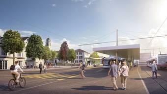 Limmattalbahn Visualisierung, Bahnhof Dietikon