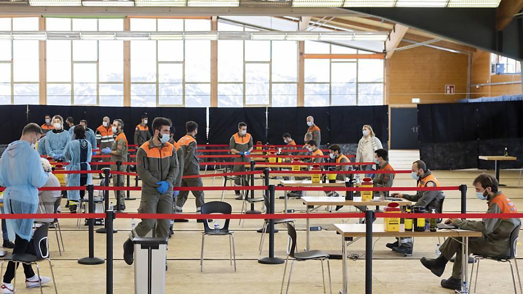 Weniger als 1 Prozent positive Fälle bei Massentests in Waadtländer Wintersportgebieten wie hier in Villars. (Archivbild)