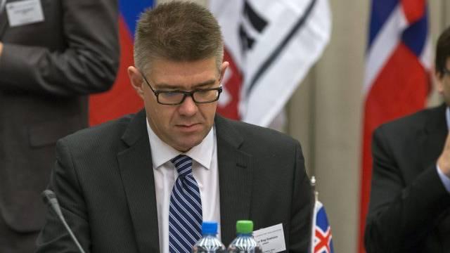 Ohne die EU: Islands Aussenminister Gunnar Bragi Sveinsson (Archiv)