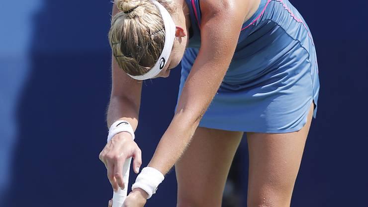 Timea Bacsinszky lässt den Kopf hängen - out in der 1. Runde am US Open