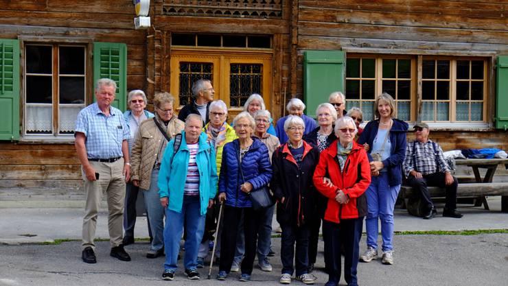 Gruppenfoto auf dem Ausflug nach Vrin