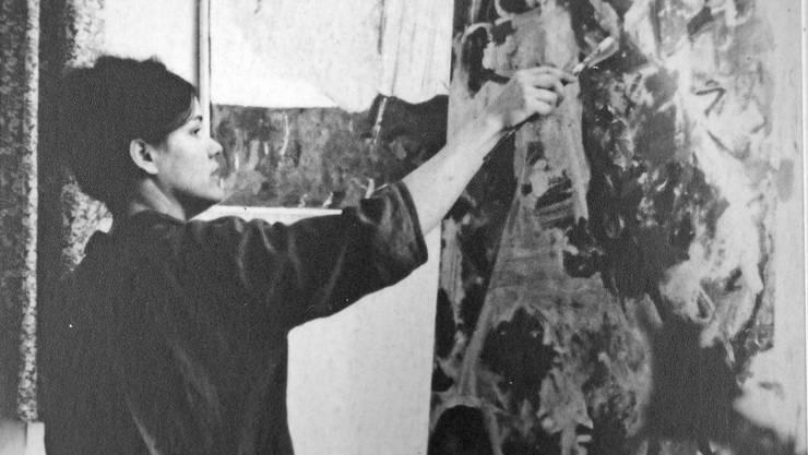 Heidi Widmer ist 18 Jahre alt, als sie 1958 Wohlen verlässt, um an der Ecole des Beaux Arts in Genf ein Kunststudium aufzunehmen. In dieser Zeit entsteht unser Bild des Monats.