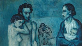Das berühmteste Bild der Blauen Periode kommt nach Basel: «La Vie» aus dem Cleveland Museum. Links verewigte Picasso seinen Freund Carles Casagemas.