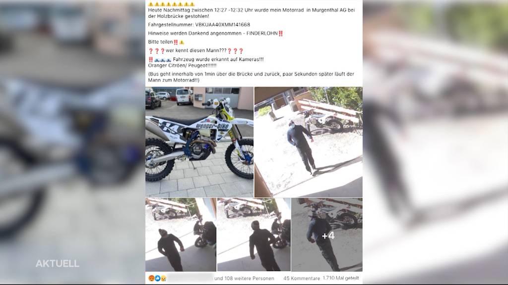 Geklautes Motorrad wieder aufgetaucht