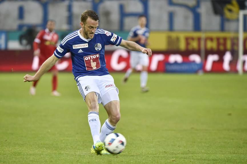 Christian Schneuwly hatte in der ersten Halbzeit eine gute Chance für den FC Luzern.