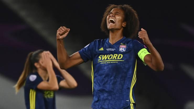 Wendie Renard und ihre Teamkolleginnen von Lyon gewannen zum fünften Mal den wichtigsten Titel in Europa