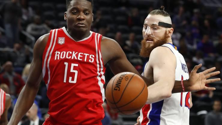 Clint Capela (vorne) brillierte im Dress der Houston Rockets